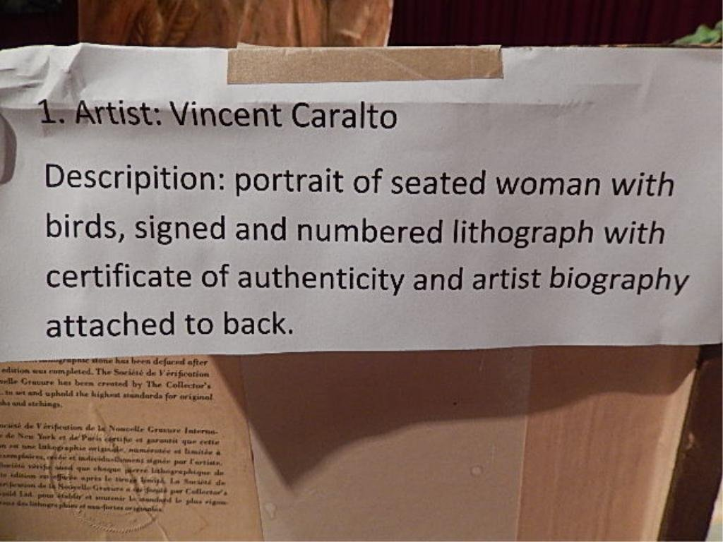 VINCENT CARALTO (SPANISH) LIMITED EDITION LITHOGRAPH, - 6