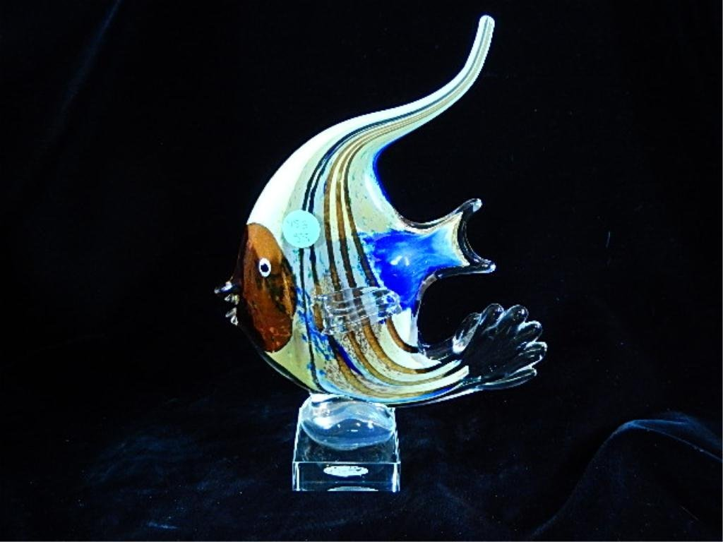MURANO STYLE ART GLASS FISH, MADE IN ITALY, MULTICOLOR