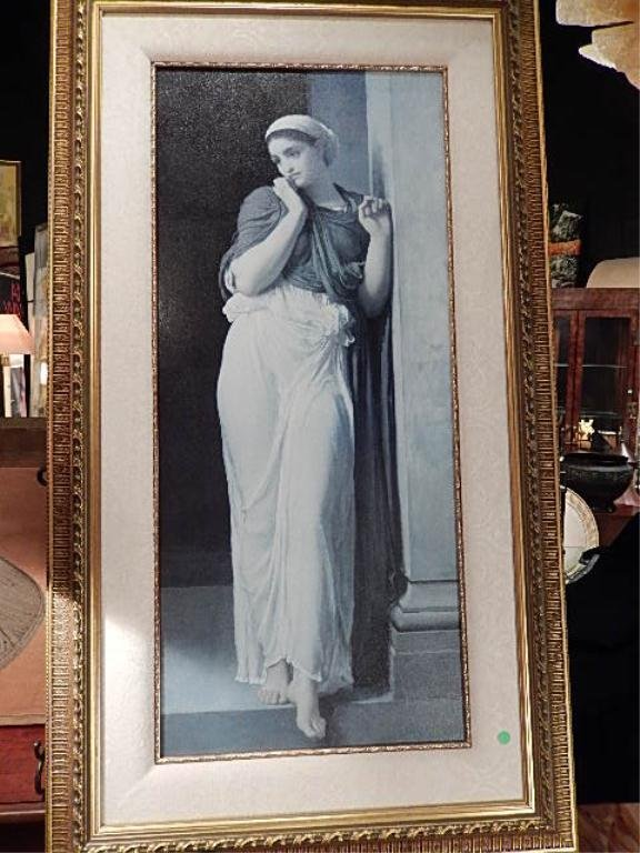 """LARGE FRAMED PRINT, MAIDEN BY COLUMN, APPROX 55"""" X32"""""""