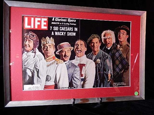"""FRAMED 1962 TIME MAGAZINE COVER, """"THE 7 SID CAESARS"""","""