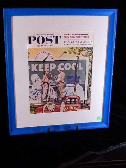 """FRAMED 1957 SATURDAY EVENING POST MAGAZINE COVER, """"KEEP"""