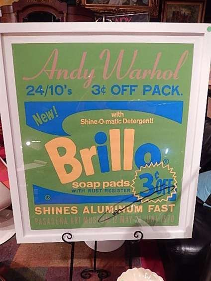 """ANDY WARHOL AUTOGRAPHED """"BRILLO"""" LITHOGRAPH, COPYRIGHT"""