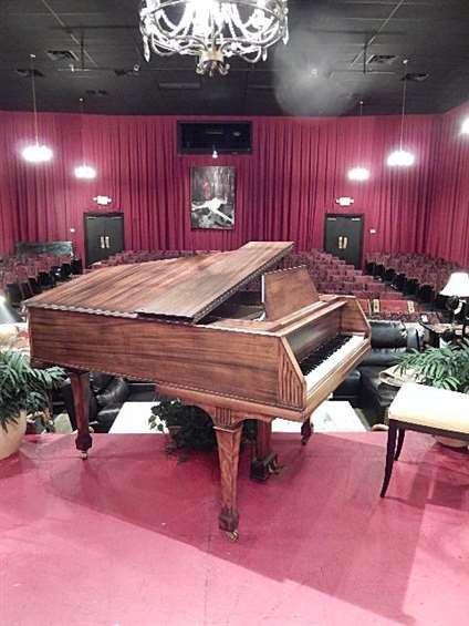 BUSH & GERTS MAHOGANY BABY GRAND PIANO, CIRCA