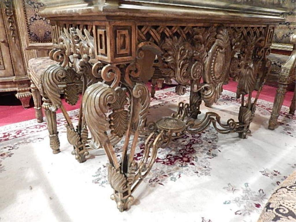 ORNATE DINING TABLE BY LAM LEE, WITH METAL COMPOSITION - 5
