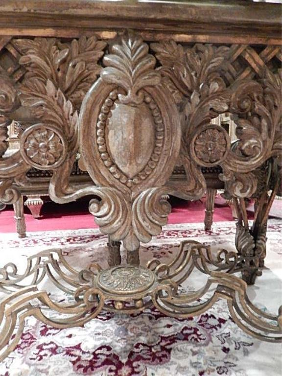 ORNATE DINING TABLE BY LAM LEE, WITH METAL COMPOSITION - 6
