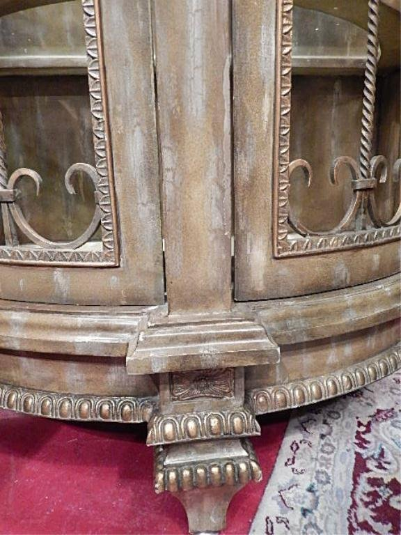 ORNATE LIGHTED CABINET BY LAM LEE, GLASS SHELVES, - 5