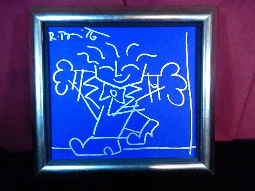 ROMERO BRITTO PAINTING ON CANVAS, SIGNED UPPER LEFT,