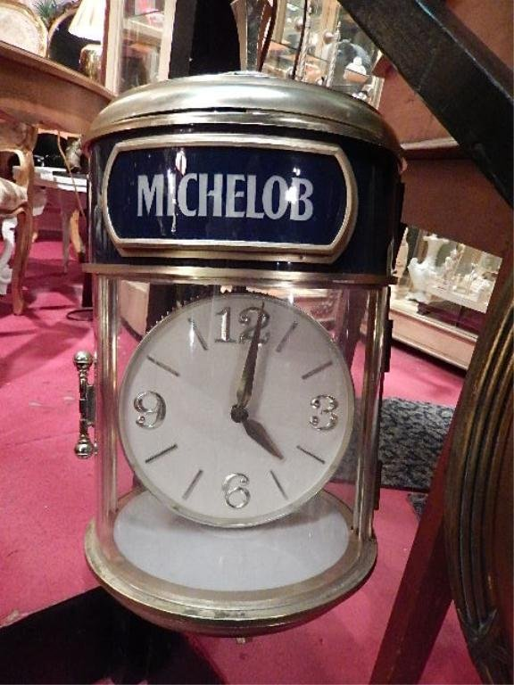 MICHELOB CLOCK, APPROX 2' HIGH