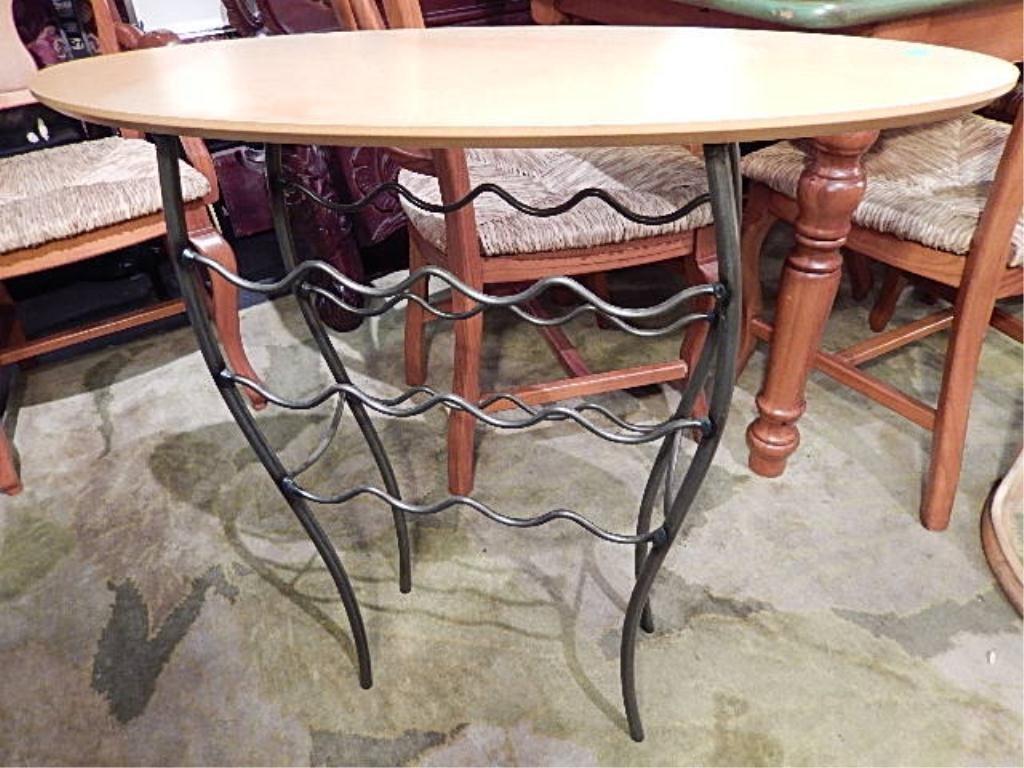 MODERN DESIGN WINE RACK CONSOLE TABLE, LIGHT FINISH