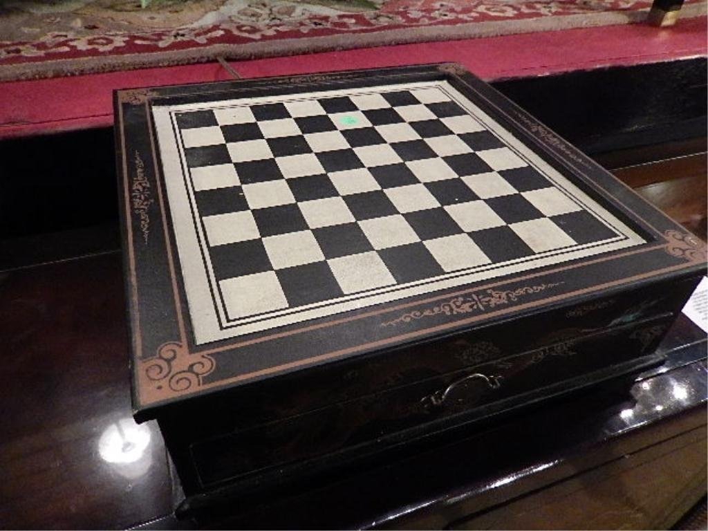 CHESS SET, WITH UNOPENED PACKAGES OF GAME PIECES,