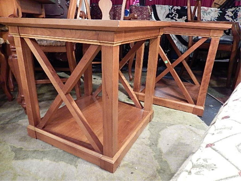 PAIR RESTORATION HARDWARE X SIDE END TABLES, APPROX 25""