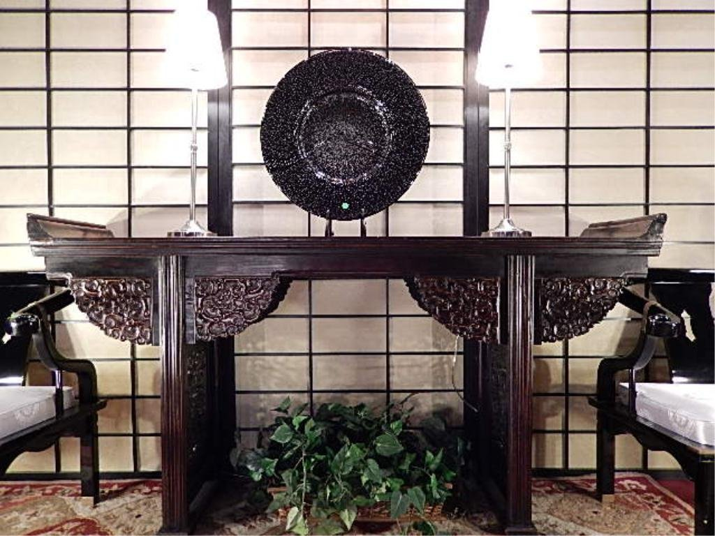 ANTIQUE CHINESE WALNUT ALTAR TABLE, QING DYNASTY CIRCA