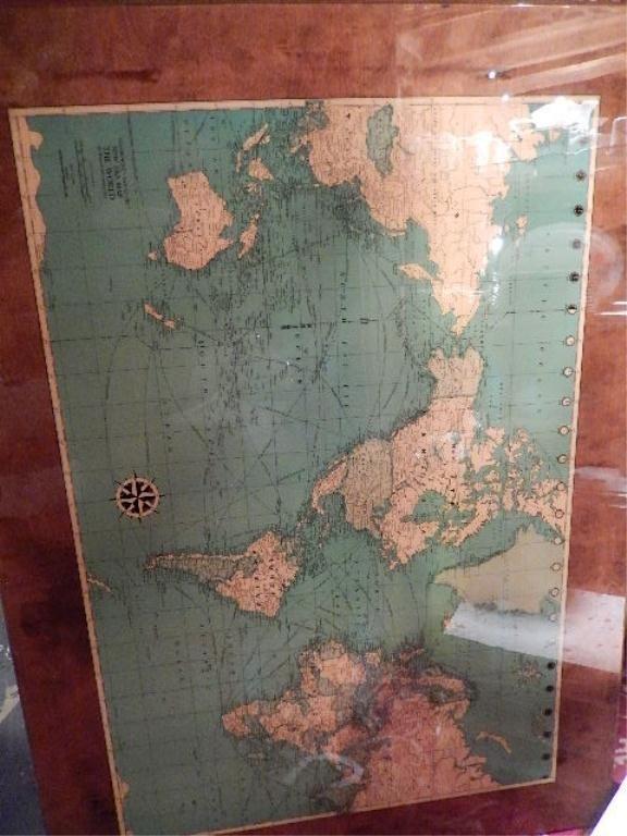 COLORPRINT LAM-O-TEX NEW ERA MAP OF THE WORLD, MAP NO.