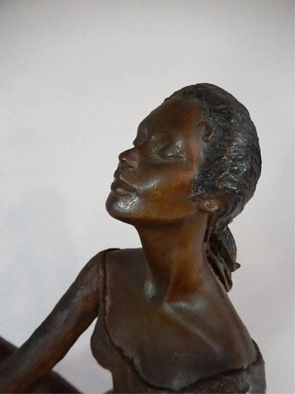 """PEGGY MACH BRONZE SCULPTURE, """"COUNTERPOINT"""", SEATED - 3"""