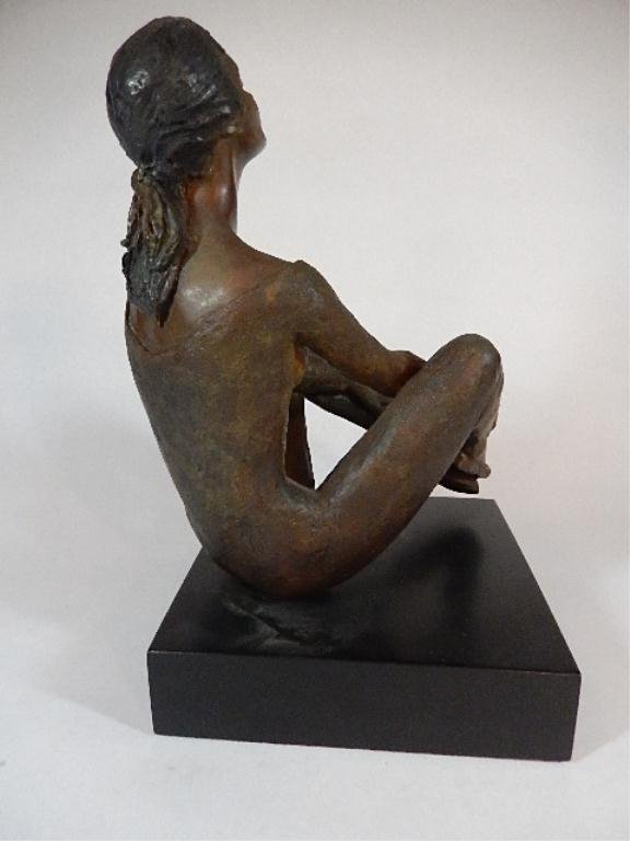 """PEGGY MACH BRONZE SCULPTURE, """"COUNTERPOINT"""", SEATED - 5"""