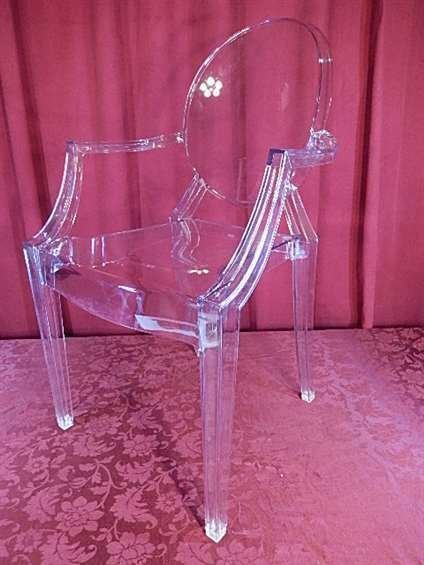 """PHILIPPE STARCK """"LOUIS GHOST"""" CHAIR BY KARTELL, CLEAR"""