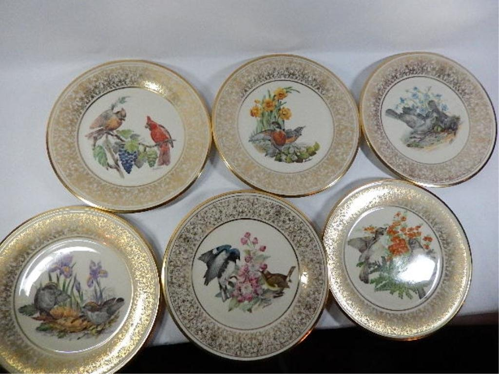 6 BOEHM BIRDS ANNUAL LIMITED ISSUE COLLECTOR PLATES, BY