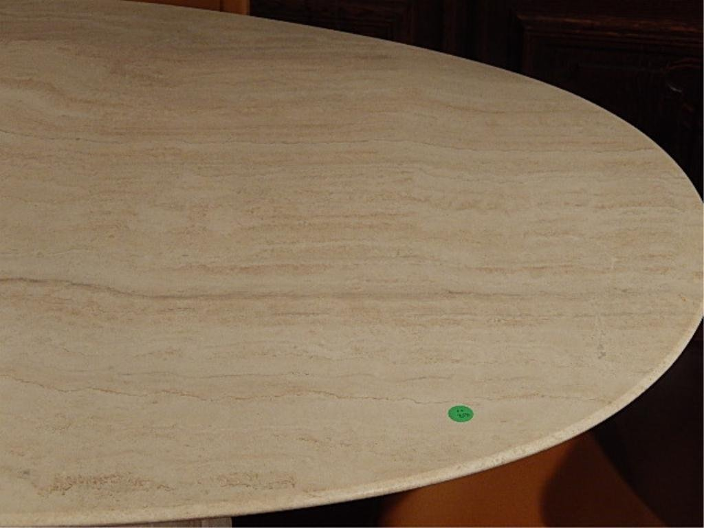 OVAL TRAVERTINE DINING TABLE WITH 4 MATTEO GRASSI - 4