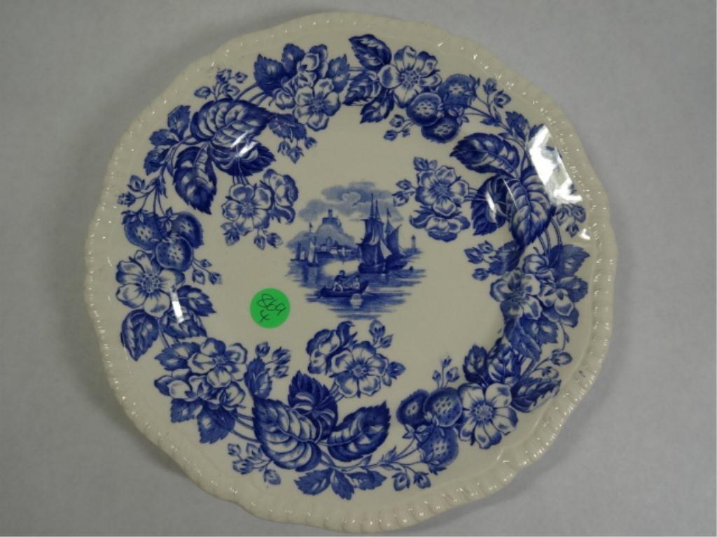 COPELAND SPODE BLUE AND WHITE TRANSFERWARE PLATE