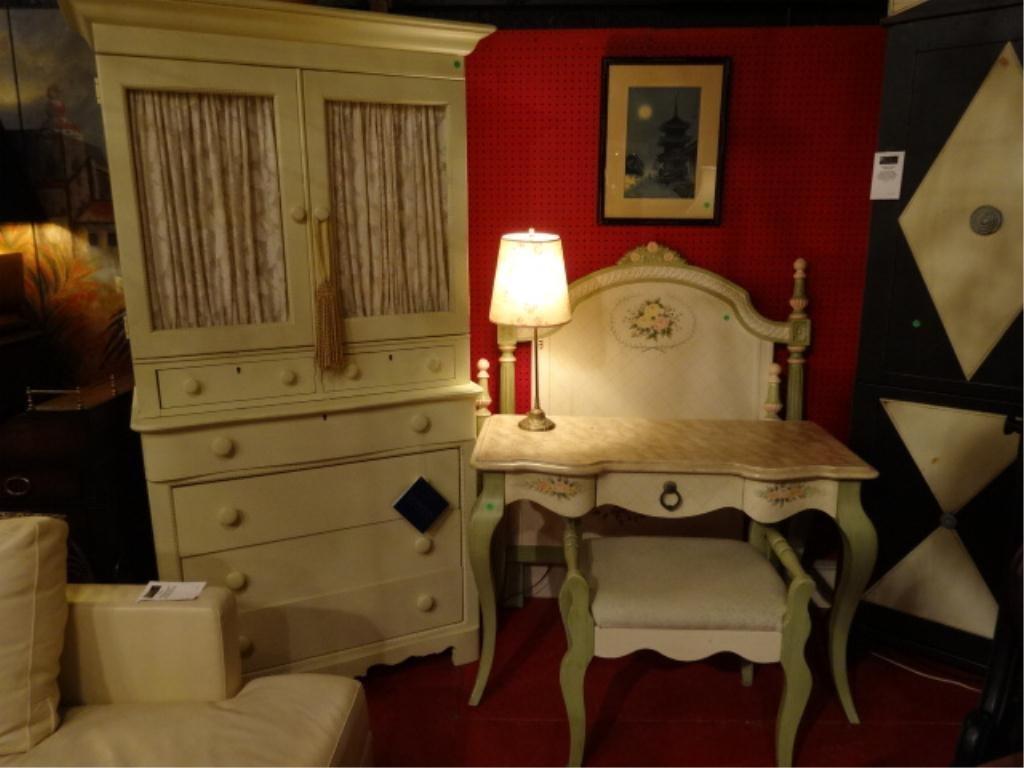 4 PC ASSEMBLED BEDROOM SET, TRUNDLE BED, LEXINGTON