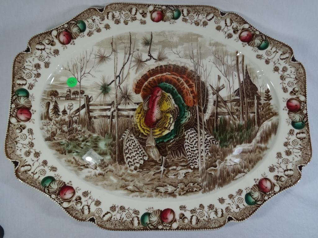 JOHNSON BROS. HIS MAJESTY TURKEY PLATTER,  APPROX