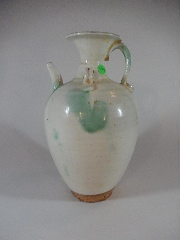 ANTIQUE CHINESE WINE EWER, TANG DYNASTY (618-906 A.D.),