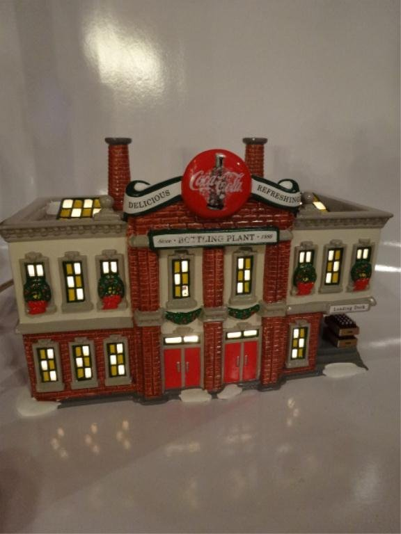 DEPT. 56 COCA COLA BOTTLING PLANT FROM THE SNOW VILLAGE