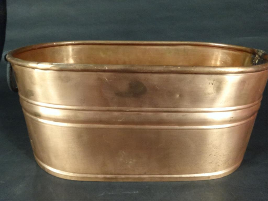 COPPER TUB, MADE IN TURKEY, MARKED SOLID COPPER, APPROX