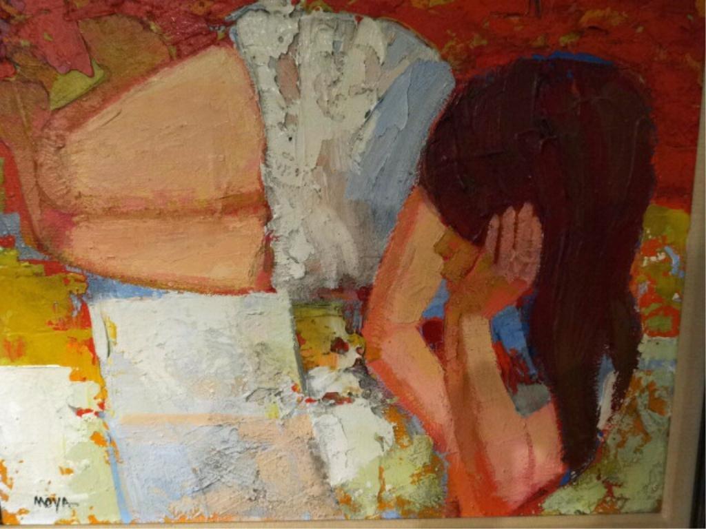 """ROBERTO MOYA (AMERICAN, 1932-2008) """"SUMMERTIME"""" OIL - 4"""