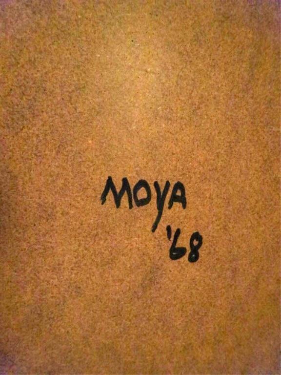 """ROBERTO MOYA (AMERICAN, 1932-2008) """"SUMMERTIME"""" OIL - 9"""