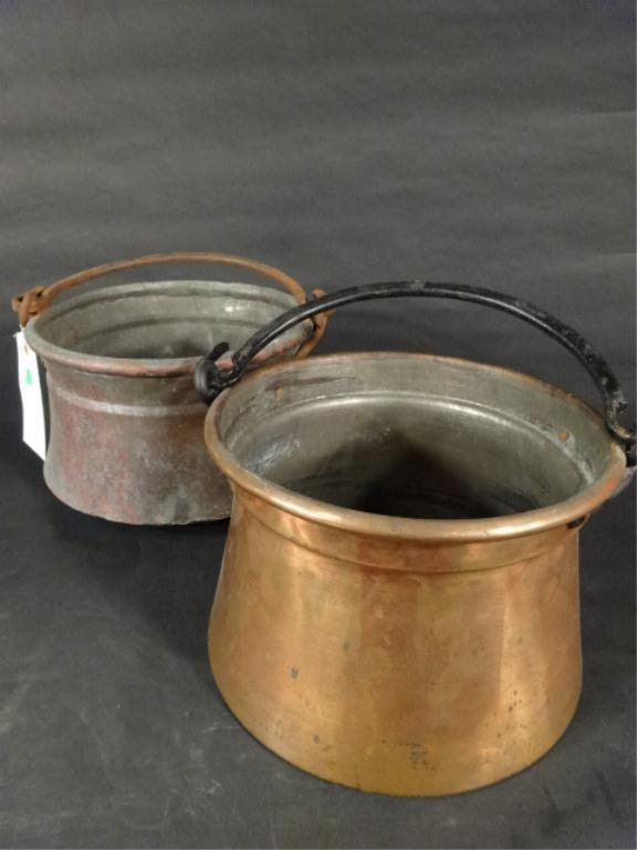 "TWO COPPER POTS, APPROX 7"" X 10.5"", SKU941.240"