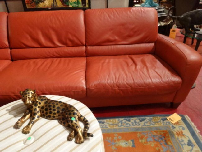 Leather Sectional Sofa By Italsofa Terra Cotta Color