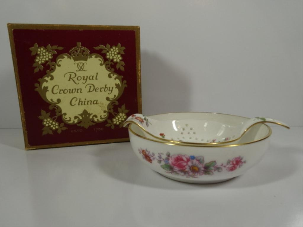 2 PC ROYAL CROWN DERBY ENGLISH BONE CHINA - TEA