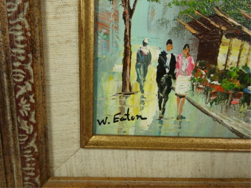 W. EATON PAINTING ON CANVAS, EUROPEAN CITY SCENE, - 4
