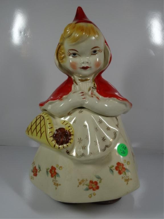 "HULL WARE ""LITTLE RED RIDING HOOD"" COOKIE JAR, MINOR"