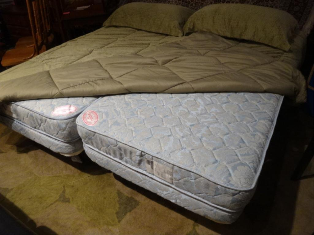 2 CRAFTMATIC ADJUSTABLE TWIN BEDS, ELECTRIC ADJUSTMENT,