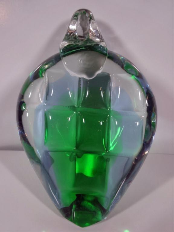 RONNEBY SWEDEN URANIUM GLASS TURTLE BY FM KONSTGLASS,