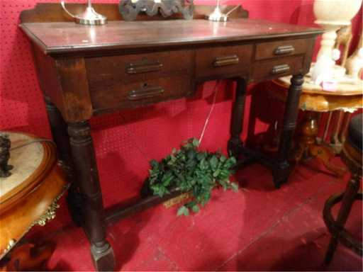 - ANTIQUE STAND UP BANK/ACCOUNTING DESK, SLANT TOP,