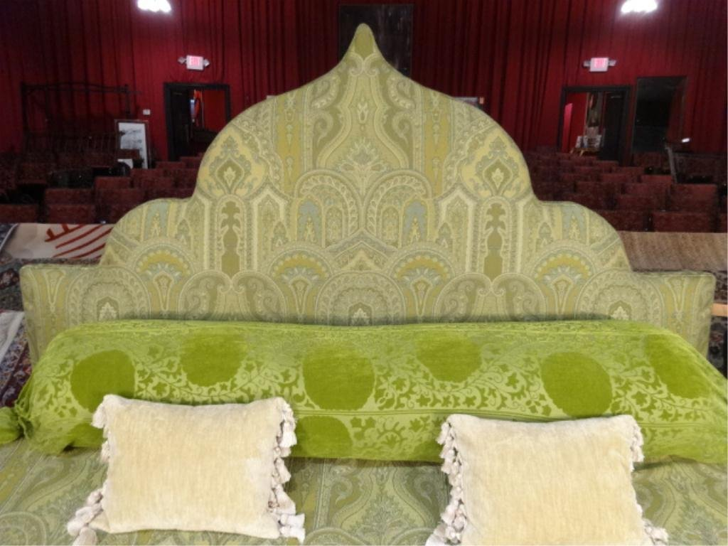 UPHOLSTERED KING HEADBOARD FROM THE RITZ CARLTON HOTEL,