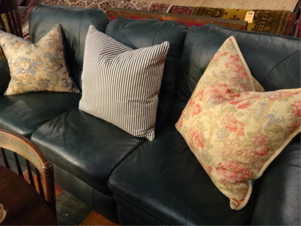3 PC ACCENT PILLOW SET, TWO FLORALS, ONE STRIPED