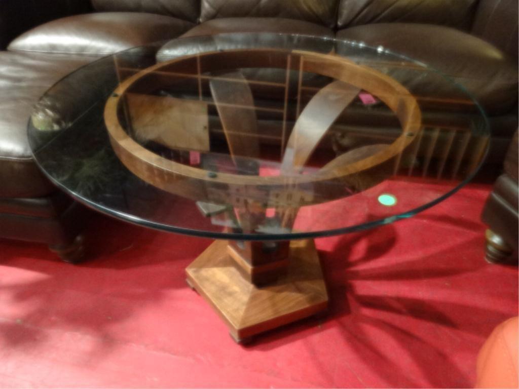 RARE EDWARD WORMLEY DUNBAR WOOD TULIP TABLE, #5620,