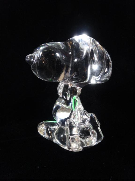 """MARQUIS BY WATERFORD CRYSTAL """"SNOOPY"""" DOG FIGURINE,"""