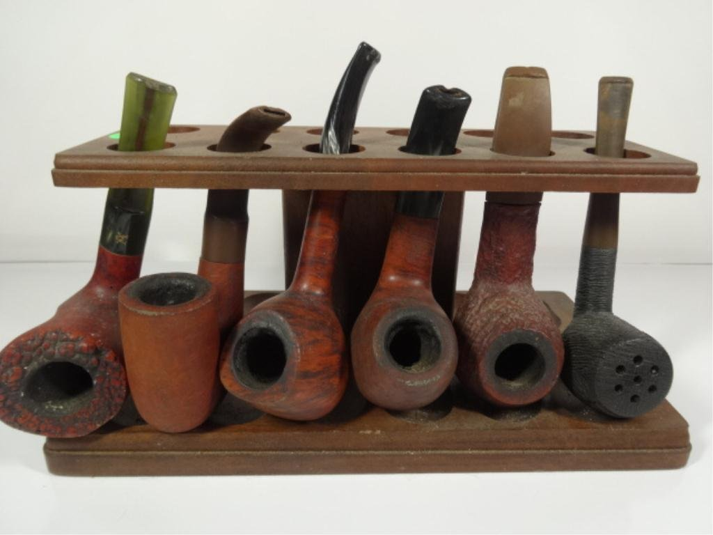 SIX PIPES AND STAND SOLD TOGETHER, INCLUDES LORENZO,