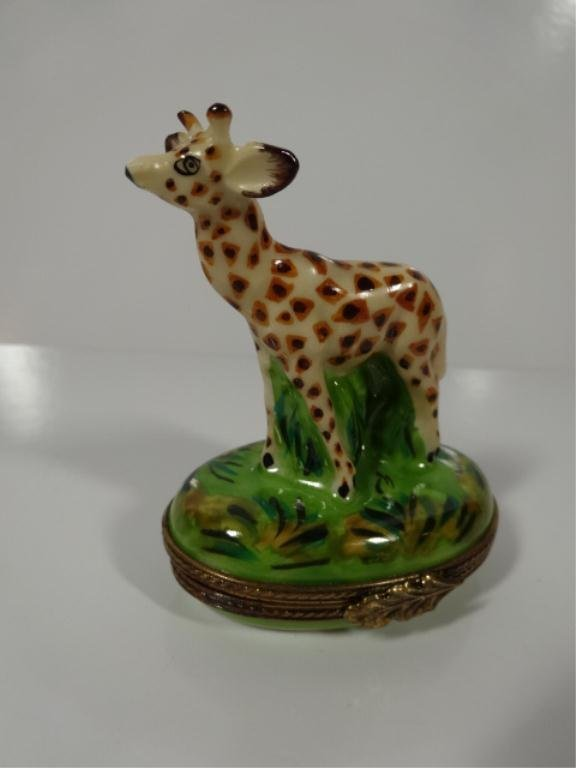 LIMOGES FRANCE HANDPAINTED BOX, IN THE FORM OF A