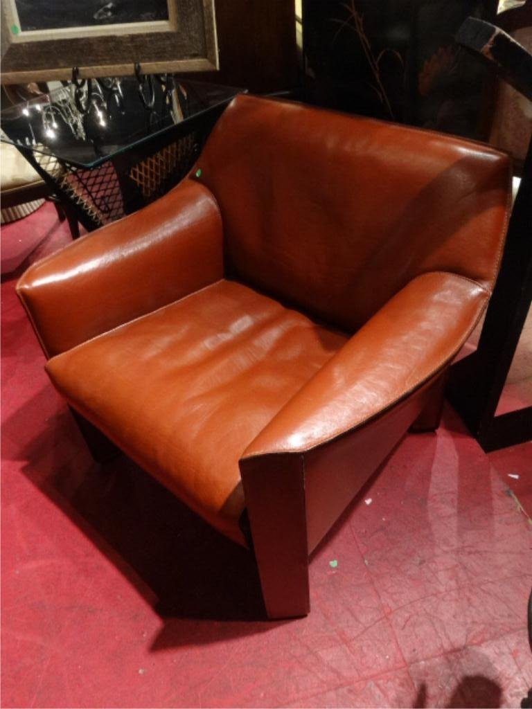 MARIO BELLINI 415 CAB LOUNGE CHAIR, BY CASSINA, WELDED