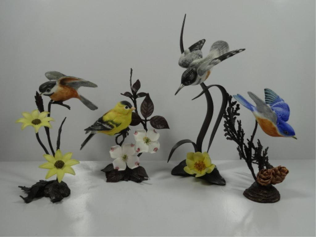 4 PC GROUP ROYAL WORCESTER LIMITED EDITION BIRDS ON