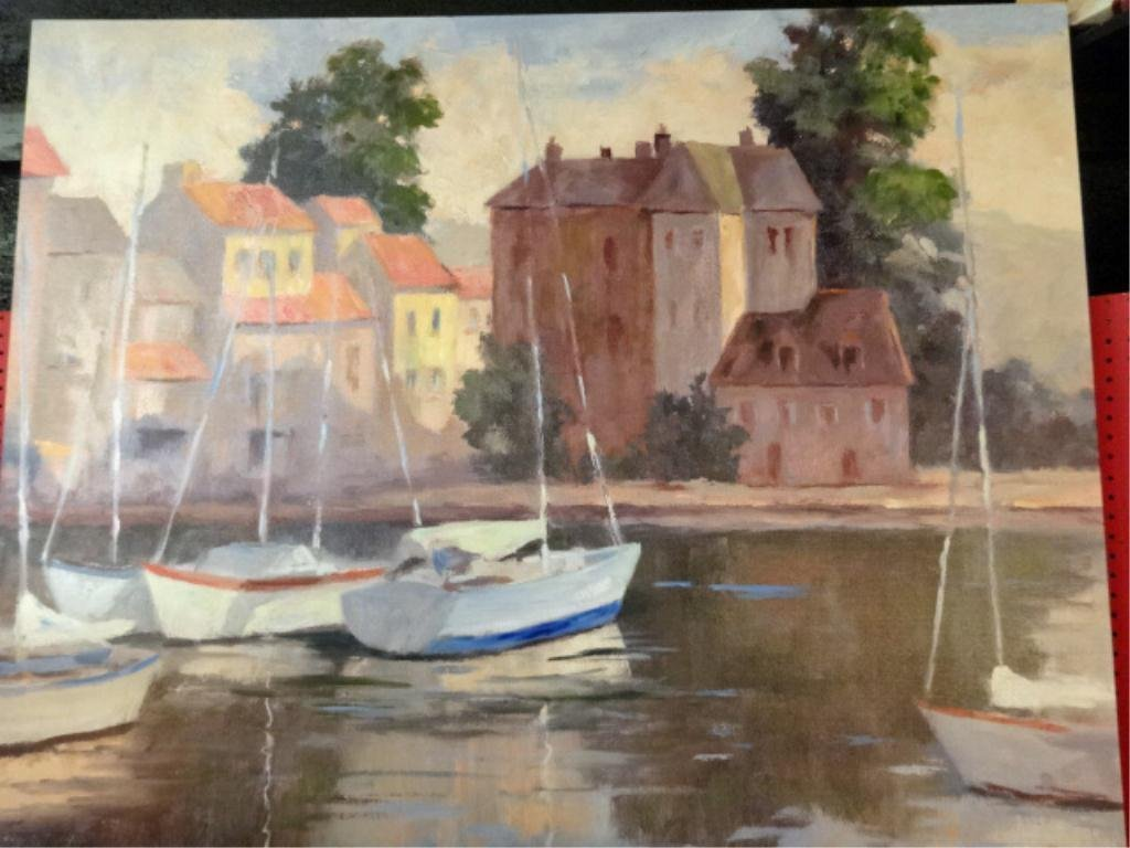 WILKERSON LIMITED EDITION GICLEE ON CANVAS, SAILBOATS,