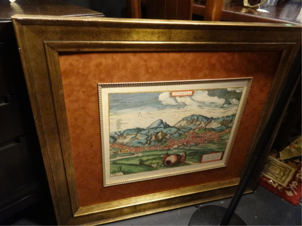 """ANTIQUE STYLE MAP OF ANTEQUERA, SPAIN, APPROX 30.5"""" X"""