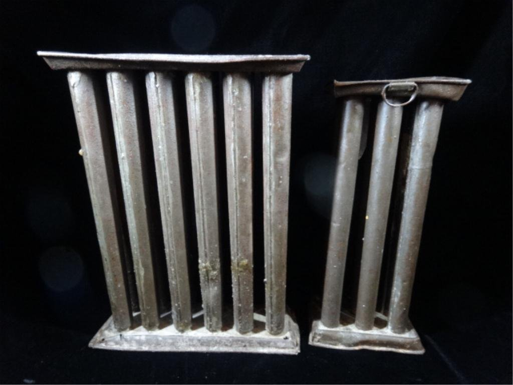 2 PC ANTIQUE CANDLE MOLDS, 12 CANDLE & 6 CANDLE, APPROX