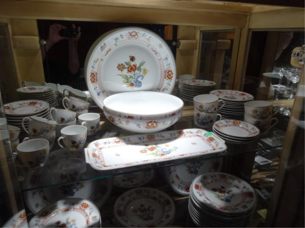 "82 PC HAVILAND LIMOGES ""CATHAY"" CHINA SERVICE, INCLUDES"